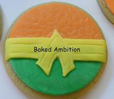 Aquaman logo cookies