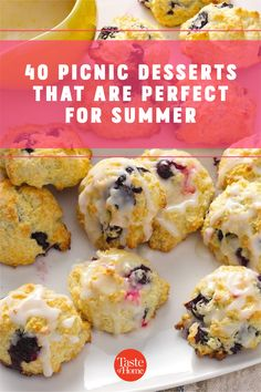 It's officially picnic season! And no summer spread is complete without a sweet treat at the end, so we've rounded up the most portable picnic desserts to pack in your basket. Picnic Desserts, Picnic Recipes, Picnic Foods, Summer Desserts, Summer Recipes, Dessert Recipes, Summer Picnic, Cookie Monster, July 4th