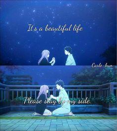 Anime:Koe no katachi Anime Nerd, Anime Life, A Silent Voice Anime, Lindos Videos, Sad Anime Quotes, Good Sentences, Anime People, Animation Film, Reality Quotes