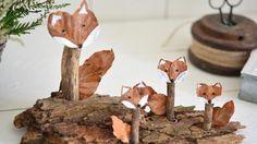 (Quelle: Privat, Imke Johannson) Waldtiere aus Naturmaterialien
