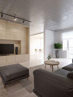 minimalistic 3D apartment