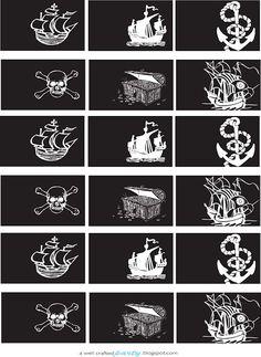 TUDO PRA SUA FESTA: Enfeites para imprimir para a festa do Pirata
