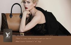 Its in the Bag: See Michelle Williams' Full Campaign For Louis Vuitton: Michelle Williams photographed by Peter Lindbergh. Photo courtesy of Louis Vuitton Michelle Williams, Peter Lindbergh, Vuitton Bag, Louis Vuitton Handbags, Prada Handbags, Bob Marley, Hair Colours 2014, Chic Et Choc, Celebrity Hair Colors