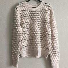 Lucca Couture sweater Gorgeous sweater from Lucca Couture! See through because of the knit pattern. Excellent condition! Urban Outfitters Sweaters Crew & Scoop Necks