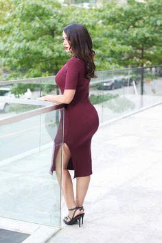 Burgundy #dress