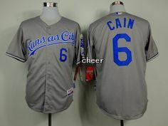MLB Kansas Royals #6 cain grey New Jersey