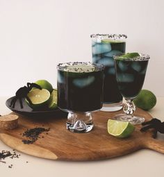 "Created by: Lauren Saylor, A Fabulous Fete With a few extra steps and ingredients, you can turn all of your favorite cocktail recipes into ""spooky"" versions for your upcoming Halloween parties. Margaritas are our go-to drinks for get-togethers. And since I didn't want to stray too far from our favorite recipe, I just changed up the color to make it festive and just the right amount of creepy for the holiday."