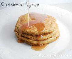 Cinnamon Syrup from creationsbykara.com. This syrup is awesome on french toast and pumpkin pancakes! #recipe #breakfast #syrup