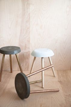 Stools by Debbie Carlos on www.sightunseen.com