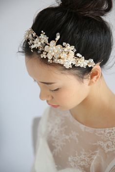 Ballet Beaded Sash Belt Flower Girl Bun Wrap Headband Sash Bridesmaid Dance Hand Beaded Rhinestone and Organza Bridal Headpiece