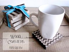 I love these wooden coasters by Mama Says Sew...perfect gift!