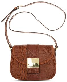 Franco Sarto Handbag, Croc Leather Kidman Crossbody