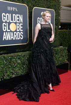 Gwendoline Christie Photos - Actor Gwendoline Christie attends The 75th Annual Golden Globe Awards at The Beverly Hilton Hotel on January 7, 2018 in Beverly Hills, California. - 75th Annual Golden Globe Awards - Arrivals