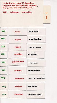 werkwoordwerkjes oranje taalset - MontessoriNet