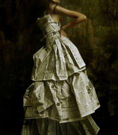 Newspaper Dress. I need to make one