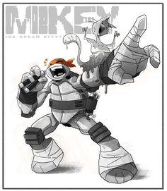 """Ice Cream Kitty -Gimme a beat! Ninja Turtles Art, Teenage Mutant Ninja Turtles, Female Characters, Cartoon Characters, Mikey, Tmnt 2012, Favorite Cartoon Character, Michelangelo, Book Art"