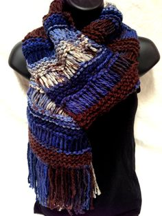 Hand Knit Chunky Scarf, Winter Scarf