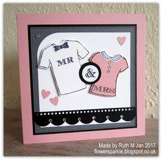 Flower Sparkle: Mr & Mrs T-shirts Wedding Card