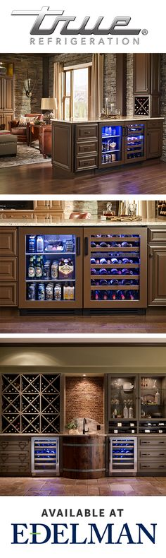 Learn how to use undercounter refrigeration to create the kitchen, wine room, or man cave of your dreams. True Refrigeration available at Edelman. | True Residential