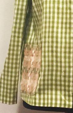 Seda cuadros Vichy tonos verdes