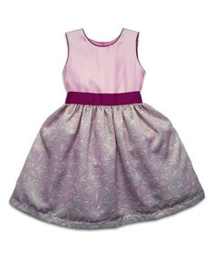 Loving this Pink & Gray Butterfly A-Line Dress - Toddler & Girls on #zulily! #zulilyfinds