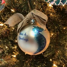 Spruce up your tree with a sea-inspired ornament this Christmas! Mermaid Leggings, Mermaid Shirt, Mermaid Diy, Mermaid Makeup, Mermaid Purse, Mermaid Outfit, Mermaid Jewelry, Mermaid Blanket, Seas