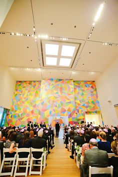 We love this colorful ceremony backdrop at the IMA! Art Catering, Indianapolis Museum, State Street, Wedding Prep, Ceremony Backdrop, Videography, Art Museum, Backdrops, Wedding Venues