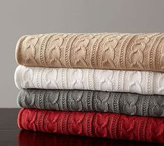 Cozy Cable Knit Throw #potterybarn