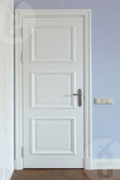 Classic interior doors in white blend harmoniously with any walls #door #interior