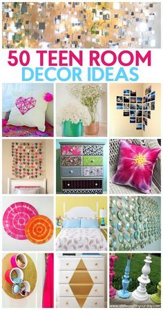 Today I thought I would share with you some fun teen girl room decor ideas with . Today I thought I would share with you some fun teen girl room decor ideas with you! Your bedroom is a place that should resemble you, that makes you happy! Bedroom Ideas For Teen Girls, Teenage Girl Bedroom Designs, Teen Girl Rooms, Diy For Girls, Girl Bedrooms, Diy Teen Room Decor, Teen Bedroom, Teen Diy, Bedroom Wall