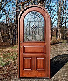 mahogany round top door african mahogany doors arched round top doors
