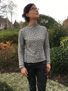 Early 60s styled High-necked Top using a self drafted pattern. Tutorial can be found on blog