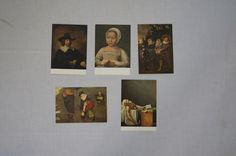 Vintage 1970's  -  Blank - Belgium Arts Postcards, Set of 5 - by TheMercerStreetHouse on Etsy