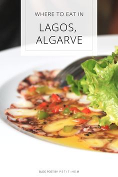 The best things to do in Lagos, Algarve. Local tips for where to go, what to see and where to eat and drink in Lagos. Here is how you enjoy your vacation in Algarve with beautiful beaches, stunning cliffs and delicious restaurants. Portuguese Recipes, Portuguese Food, Lisbon Food, Food Spot, Good Food, Yummy Food, Delicious Restaurant, Enjoy Your Vacation, Restaurant Guide