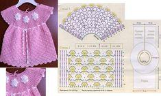Robes bébés au crochet , modèles et grilles à imprimer ! - Crochet Passion