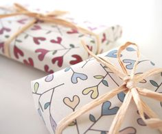 heartic flower wrapping paper by asugatic
