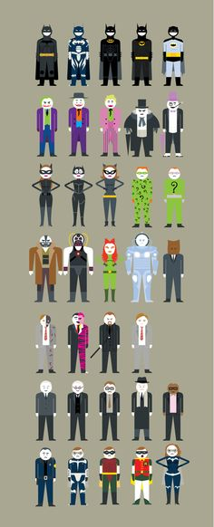 Batman movies on Behance