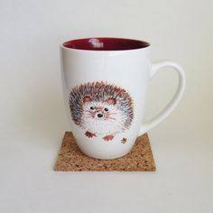 Hey, I found this really awesome Etsy listing at https://www.etsy.com/listing/248853209/hedgehog-coffee-mug-hand-painted
