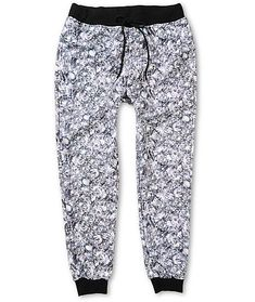 5292a71e jogger pants · Shine bright in comfortable style with an all-over diamonds  graphic print with a fleece