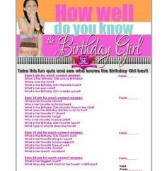 FREE Sweet 16 Birthday Girl Quiz | Sweet 16 Party Store