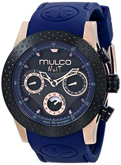 Women's Wrist Watches - MULCO Unisex MW51962445 Analog Display Swiss Quartz Blue Watch >>> Want to know more, click on the image. (This is an Amazon affiliate link)