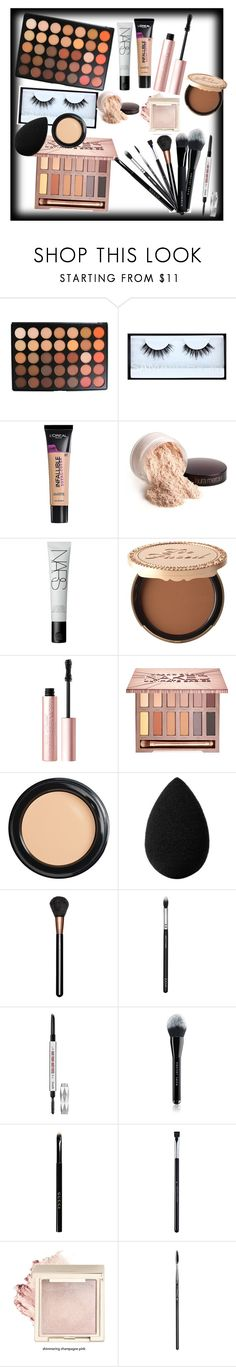 """daily makeup 🔥"" by chvbbynymph on Polyvore featuring beauty, Morphe, Huda Beauty, L'Oréal Paris, Laura Mercier, NARS Cosmetics, Too Faced Cosmetics, Urban Decay, Benefit and beautyblender"