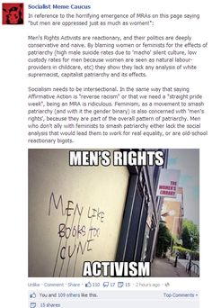 Socialist Meme Caucus smashes Men's Rights Activists