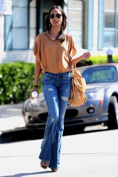 Jeans botapie acampanado #look #estilo #moda