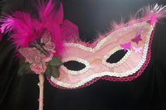 Pink masqurade mask