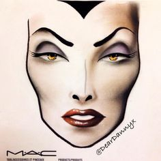 """Mirror mirror on the wall, who is the fairest of them all?"" Disney's Evil QueenFairest of All M.A.C Facechart by Danny ZhenInstagram: @DearDannyxTumblr: www.dancedannydancex.tumblr.com"