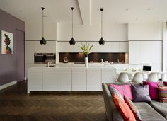 Family entertaining space - contemporary - Kitchen - Other Metro - bulthaup by Kitchen Architecture