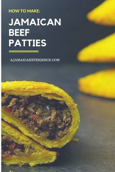 The Jamaican Beef Patties: Their Rich History and How to Cook Them - Jamaican Food - Patty Jamaican Dishes, Jamaican Recipes, Beef Recipes, Cooking Recipes, Jamaican Meat Pies, Jamaican Cuisine, Beef Meals, Fast Recipes, Chicken Recipes