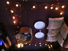 Our indoor picnic tonight :) great idea to do something different while still in the privacy of your home... We loved it!