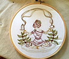 Coffee Goddess - NEEDLEWORK. Substitute coffee pot for tea pot and we're in business